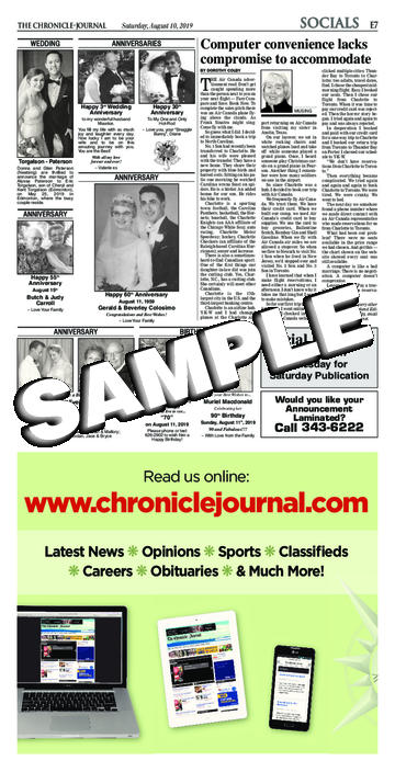 Chronicle journal digital edition
